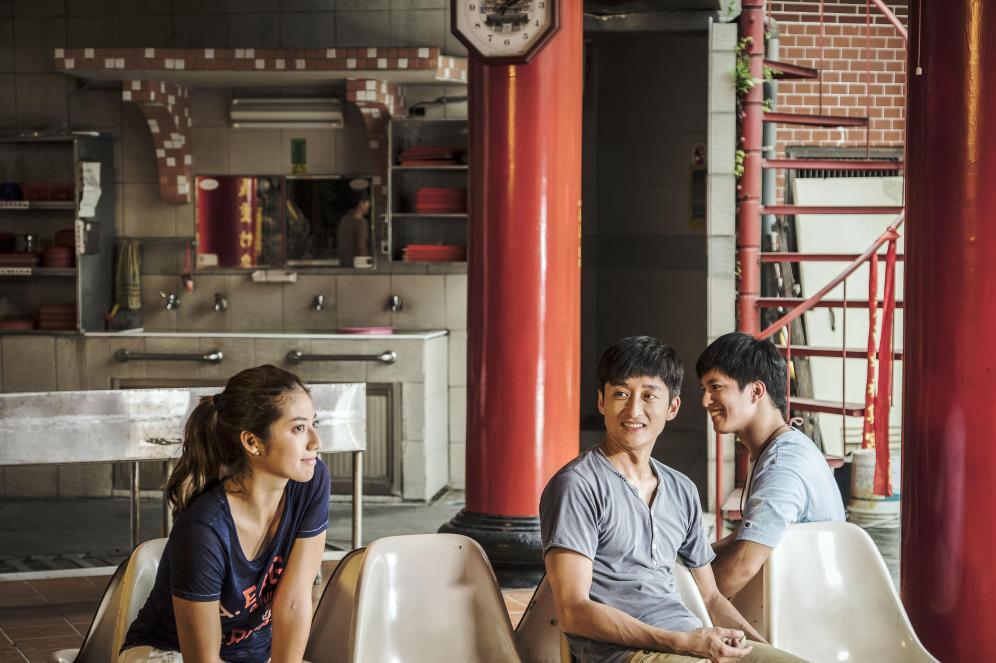 From left: Xu Qizi, Ah Feng and Li